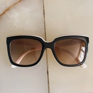 Salvatore Ferragamo Sunglasses in Black w/ White